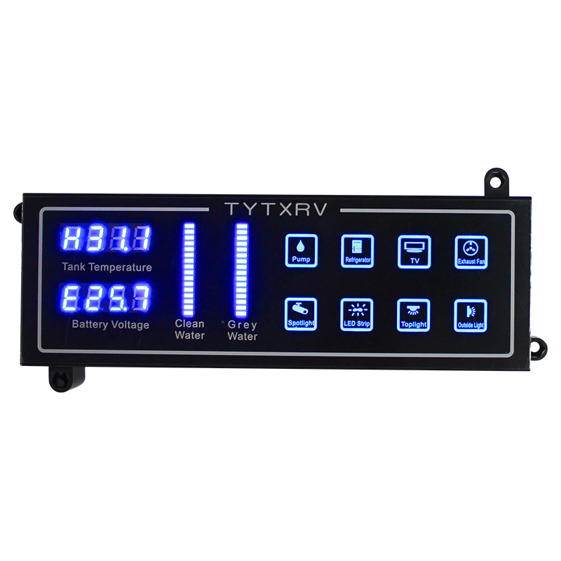 Touch Control Panel Water Level Indicator Voltemter Caravan Accessories 12V Camper Motorhome Control SystemRV Parts & Accessories   -