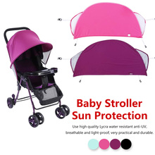 цена на Baby Anti-UV Cloth sunshade Stroller Cover Windproof Sun Protection Awning Shelter Canopy Net Accessories