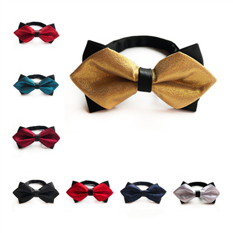 2020 New Solid Silk Bowtie Mens Groom Wedding Bow Tie Gold Green Red Blue White Purple Black Mens Bowties Suit Accessories A089
