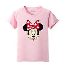 Baby Girls Boys T-shirt Mickey Minnie Summer Cotton Funny Tees Tops Short Sleeve T shirts Children Clothing Kids Clothes Costume стоимость