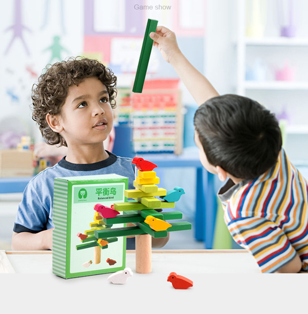 Image 5 - wooden toys Balance bird Tree kids toys Party Games Educational Toys for Children Interaction Kids toy Building blocks baby gift