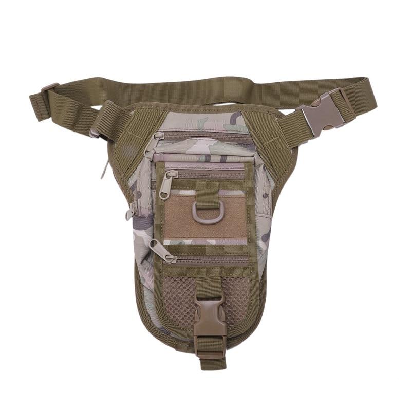 Outdoor Multifunctional Waist Bag Hiking Drop Leg Bag Men'S Sport Cycling Fishing Hunting Gear Bag Camouflage