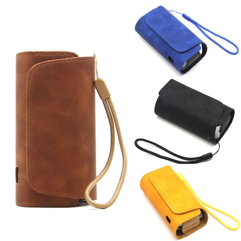 Fashion Flip Double Book Cover Case Pouch Bag Holder Cover Wallet Leather Case For Iqos 3