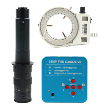 1080P 60FPS 2K 38MP HDMI USB Industriële Elektronische Digitale Video Microscoop Camera TF Video Recorder + 180X 300X 100X C mount Lens