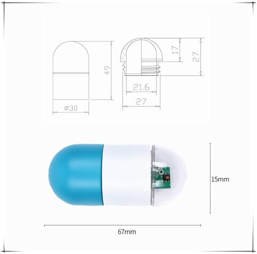 Водонепроницаемый IP67 Новый Heltec Lora Node ASR650x капсульный датчик для arduino светильник интенсивность/температура и влажность/качество воздуха