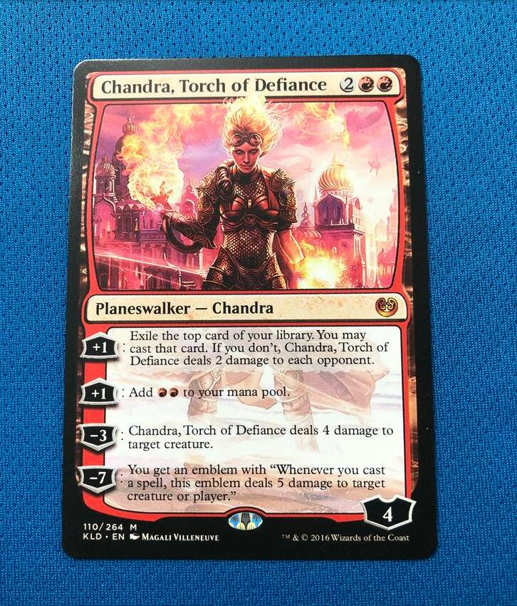 Chandra, Torch Of Defiance KLD Kaladesh Hologram Magician ProxyKing 8.0 VIP The Proxy Cards To Gathering Every Single Mg Card.