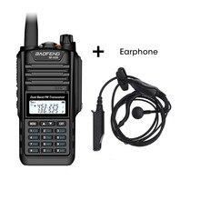 Baofeng BF A58 Walkie Talkie IP68 su geçirmez 128CH çift bant UHF VHF iki yönlü radyo el FM alıcı verici CB Ham radyo istasyonu