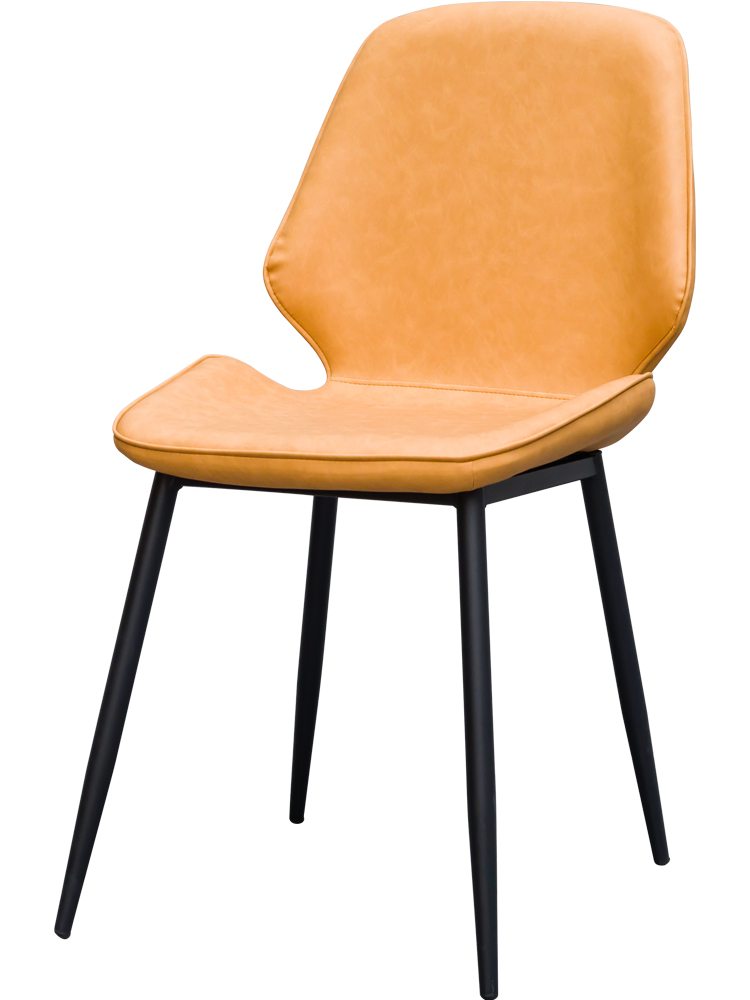 Stool Household Back ins Light Luxury Dining Chair Simple Lazy Cafe Lounge  European Leather  Restaurant