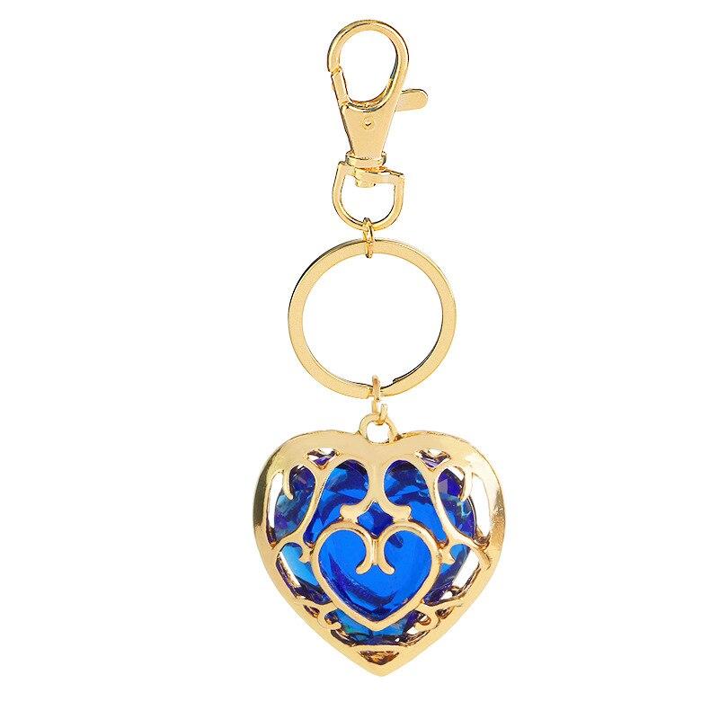 Модные ювелирные изделия Легенда о Zelda брелок синий кулон в виде красного сердца влюбленные пары брелок для женщин и мужчин - Цвет: Белый