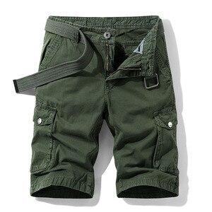 High Quality 2020 Summer Men's Baggy Multi Pocket Military Cargo Shorts Male Cotton Mens Tactical Shorts Short Pants No Belt