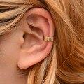 Mostyle новые винтажные простые u-образные ушные манжеты, не проколотые клипсы, модные серьги в стиле панк, античный цвет, маленькие цветочные р...