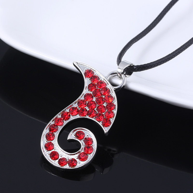 Hot movie NE ZHA red flame logo necklace clavicle flame rock chain Wrist collar ladies girl fashion jewelry in Pendant Necklaces from Jewelry Accessories