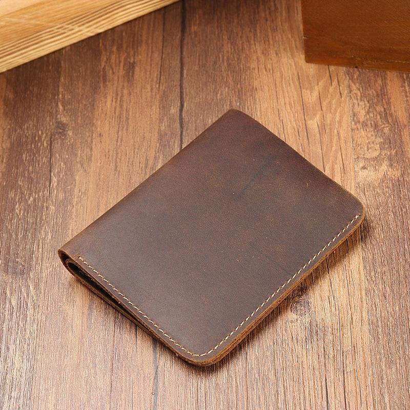 Men's Wallet Leather Cross - Cut Top Cowhide Wallet Retro Casual Wallet