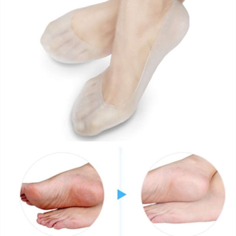 1 Pairs Silicone Feet Care Socks Full Length Moisturizing Gel Heel Socks Remove Cracked Cutin Non-slip Foot Skin Care Protector