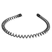 5 шт. унисекс простой черный металлический пластиковый обруч для волос Весна Волнистые мыть лицо оголовье 95AB