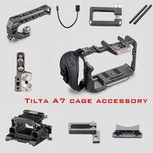 Tilta dslr rig a7 iii מלא מצלמה כלוב למעלה ידית baseplate hdmi כבל עבור Sony A7 A9 A7III A7R3 A7M3 a7R2 A7 אבזרים