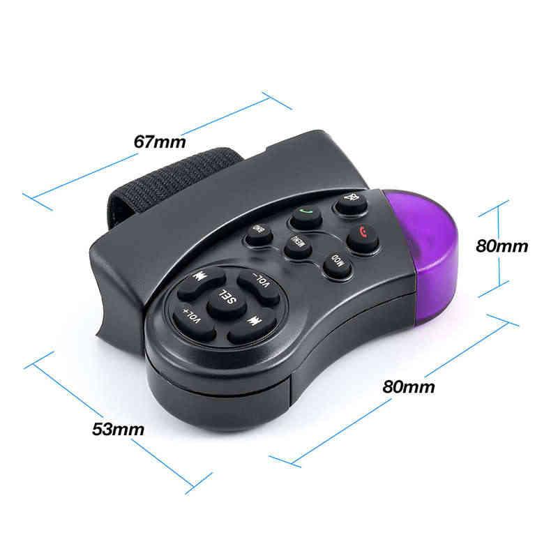 Universele Stuurwiel Knop Afstandsbediening Sleutel Voor Auto Navigatie Dvd Multimedia Muziekspeler Android Auto Radio