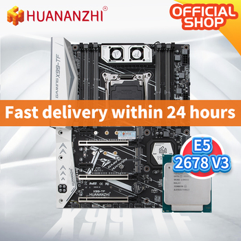 HUANANZHI X99 TF X99 Motherboard Intel with XEON E5 2678 V3 DDR3 DDR4 RECC memory combo kit set NVME SATA 3.0 USB3.0 ATX Server 1