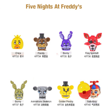 8Pcs/Set Nightmare Five Nights Freddyed Building Blocks Bricks Figures Toys For Kids Christmas Gift KF6121