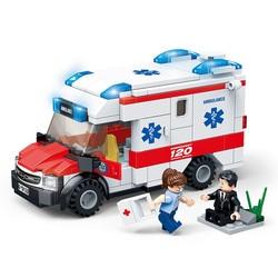 2019 New GUDI City Fire control Series Medical ambulance Building Blocks Model Sets Bricks Classic For Children Toys Kids Gift