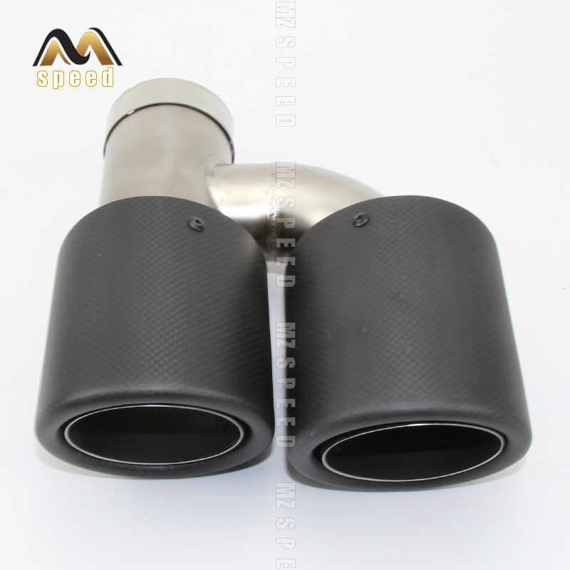 Accesorios para coche, tubo de escape universal de doble fibra de carbono de acero inoxidable para BENZ w221