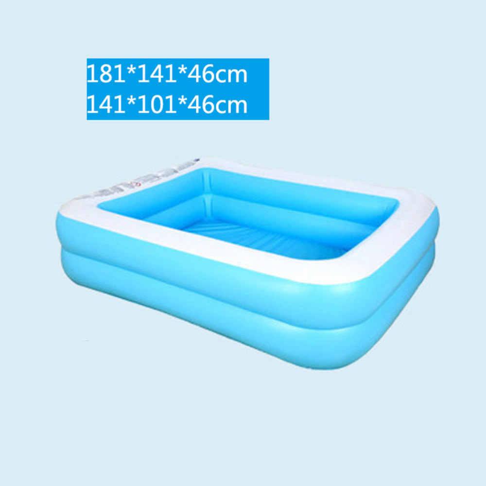 1PC 풍선 풀 욕조 재미 있은 물 매트리스 사각형 수영장 장난감 소년 소녀 아기 (하늘색)