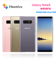 Телефон Samsung Galaxy Note8 Duos Note 8 N950FD глобальная версия 4G LTE Android Exynos Octa Core 6,3 дюймDual 12MP RAM 6GB ROM 64GB NFC