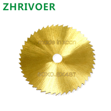 цена на HSS high speed steel gold small saw blade metal wood plastic electric grinding 50mm small round saw blade customized wholesale