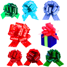 12 Pcs Christmas Pull Bow Gift Ribbons Flower Wrappers for Wedding Events Birthday Decoration Happy Gifts