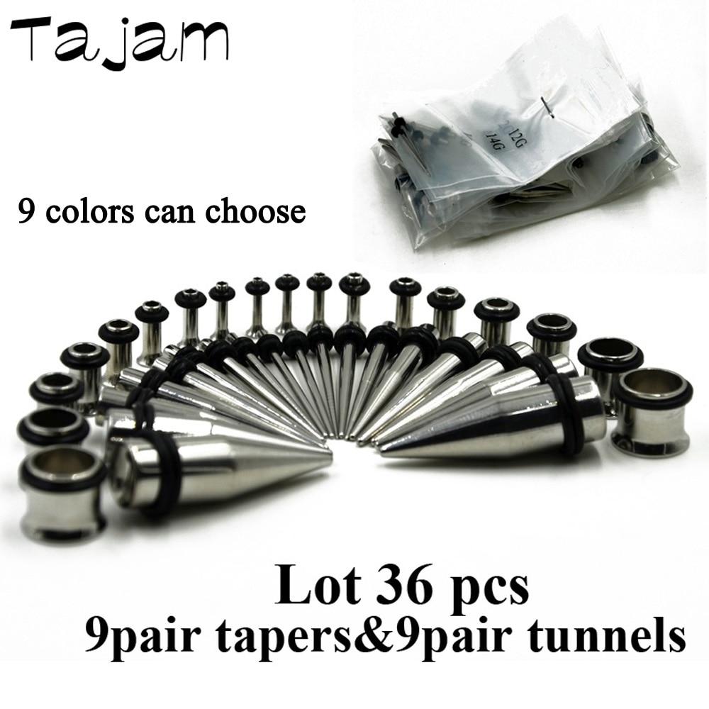 Single Black Acrylic Taper /& Steel Screw Tunnel Pair Plugs Ear 6g 6 Gauge