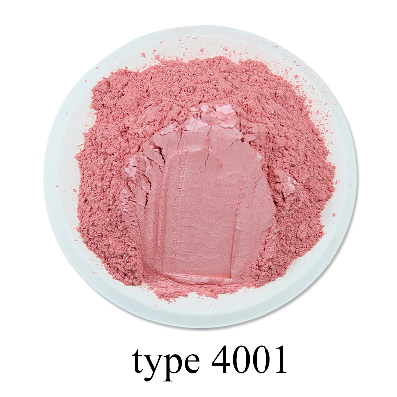 Type 4001 Bright Pink Pearl Powder Pigment Dye Colorant For Nail Decoration Soap Automotive Arts Crafts 50g Mineral Mica Powder