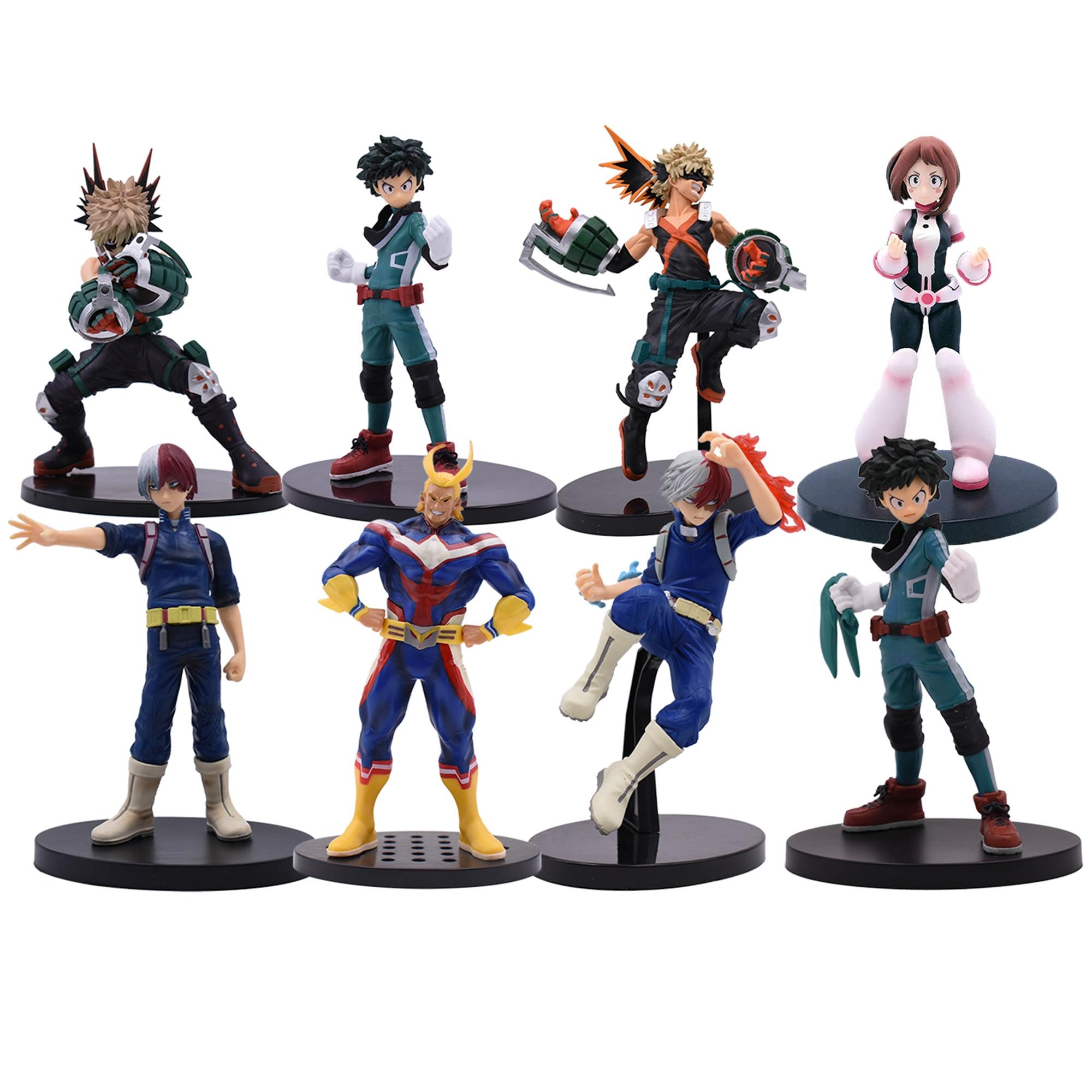 17-20 Cm Anime Figure My Hero Academia PVC Smack Izuku Midoriya Shouto Todoroki Katsuki Boku Amazing Heros Toys Dolls Gift