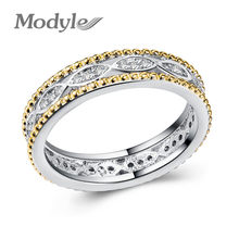 Vagzeb 2020 New Brand Silver Color Alluring Brilliant Marquise Stackable Finger Ring with Clear CZ Original Fine Jewelry()