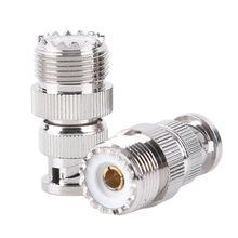 BNC штекер к SO239 UHF PL-259 Jack RF Женский коаксиальный адаптер кабель подключения