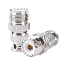 Bnc macho plug para so239 uhf PL-259 jack rf fêmea cabo adaptador coaxial conectar