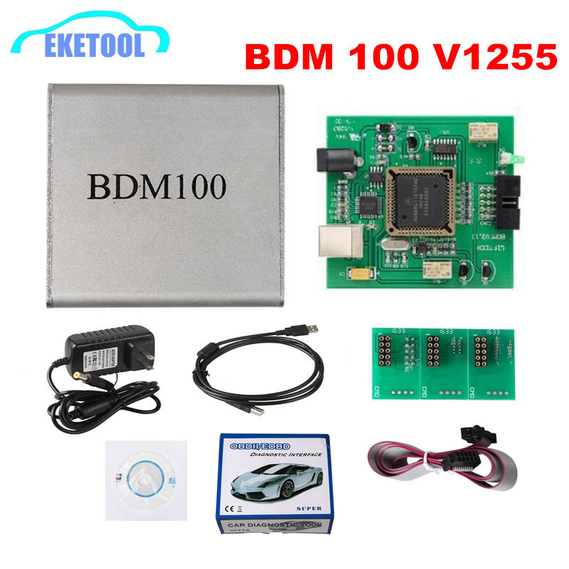 BDM100 V1255 Professional ECU Flasher Chip Tuning Programmer Interface BDM 100 ECU Flasher Code Reader OBDII Diagnostic Tool