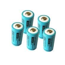 5 pièces PKCELL taille 17*34.5MM Liion batterie Rechargeable ICR 16340 700mAh 3.7V ICR16340 Li-ion batterie pour lampes de poche