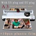 A3 фотобумага горячий и холодный термоламинатор машина Быстрый разогрев быстрая скорость ламинирования с евровилкой многофункциональные ф...