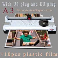 A3 papier Photo chaud et froid plastifieuse thermique Machine rapide échauffement rapide vitesse de laminage avec prise EU fonctions multifonctions