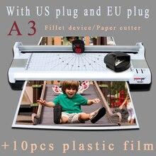 Ламинатор для фотобумаги A3, ламинатор для горячего и холодного нагрева, быстрая скорость ламинирования, многофункциональные функции с европейской вилкой