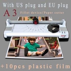 Máquina laminadora térmica de papel fotográfico A3 caliente y fría velocidad de laminación rápida de calentamiento rápido con funciones multifuncionales de enchufe de la UE
