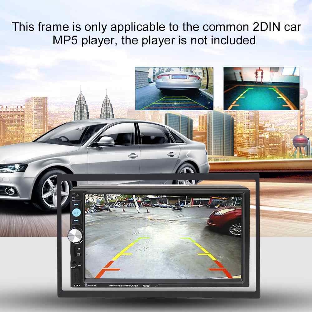 Din إطارات ل مشغل الوسائط مزدوجة الدين اكسسوارات السيارات لتركيب 3.94 بوصة راديو السيارة 2din MP5 100 مللي متر