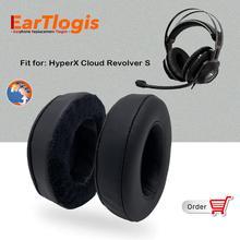 EarTlogis – coussinets doreille de remplacement, pour HyperX Cloud Revolver S, pièces de casque, couvre oreilles, coussin, bonnets, oreiller