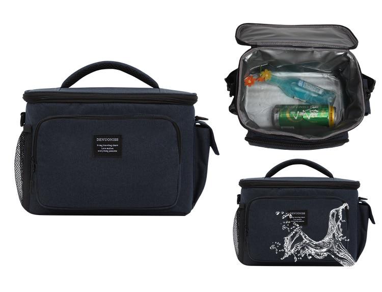 Tello Leith Large Capacity Waterproof Insulated Bag Outdoor Freshness Refrigeration Freshness Cross-body Handbag