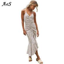 Женское винтажное платье с цветочным принтом anbenser сексуальное