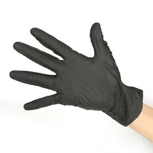 Image 4 - Luvas descartáveis do nitrilo do látex de 100 pces isolam para evitar o contato com o trabalho da cozinha para a mão esquerda e direita