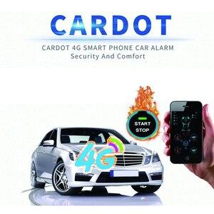 Image 2 - Cardot yeni 4g Gps Gsm akıllı Pke anahtarsız giriş uzaktan marş Start Stop motor araba alarmı