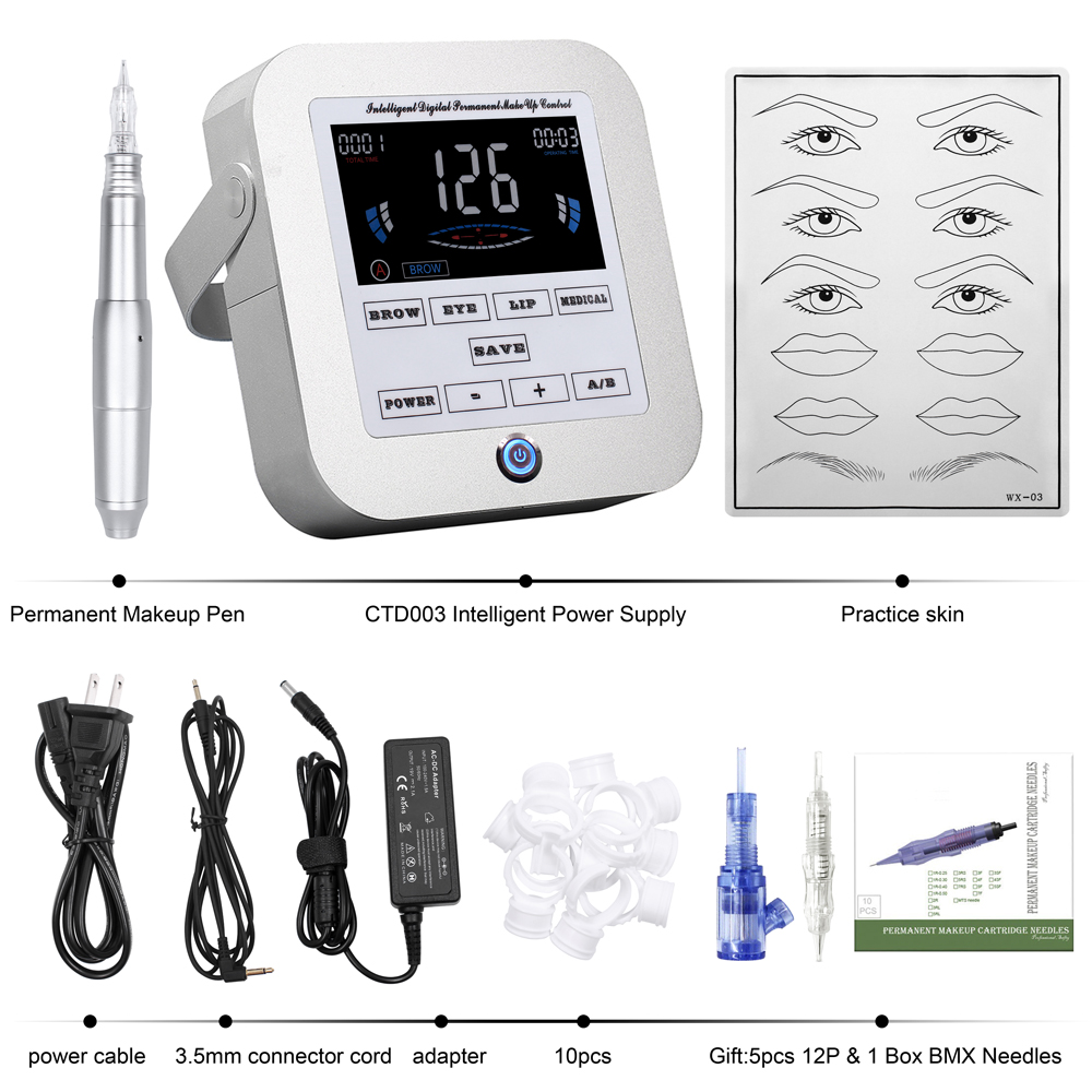 Image 5 - Biomaser New Permanent Makeup Machine Eyebrow Tattoo Professional Digital Device Machine Eyebrow Lip Pen Machine Sets  CTD003 2-in Tattoo Kits from Beauty & Health