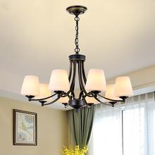 American Style Living Room Pendant Lights Iron Country Vintage Pendant lamp for Bedroom Study Dinning Room,Creative Simple Light