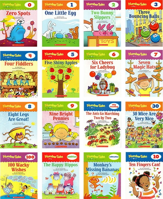 16 Books/set English Books for Children Learning Number Tales Math Book Game Educational Toys Books for Kids Montessori Game 1